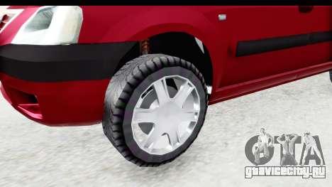 Dacia Logan MCV для GTA San Andreas вид сзади