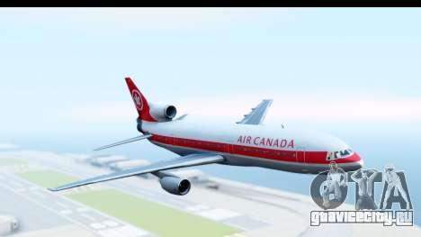 Lockheed L-1011-100 TriStar Air Canada для GTA San Andreas вид сзади слева