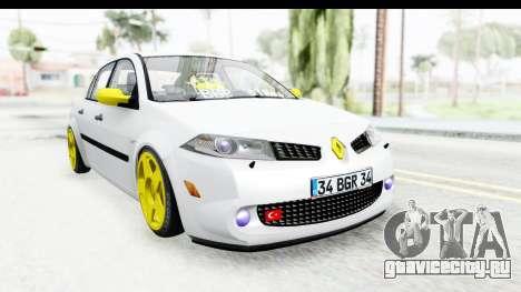 Renault Megane для GTA San Andreas вид сзади слева