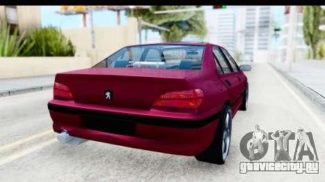 Peugeot 406 Light Tuning для GTA San Andreas вид сзади слева