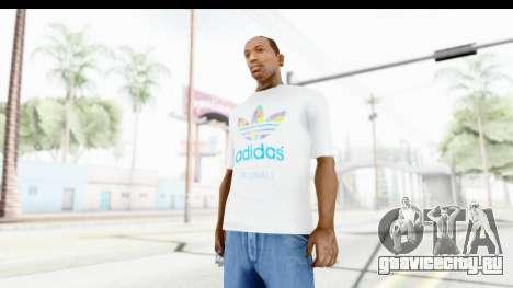 Adidas White T-Shirt для GTA San Andreas второй скриншот