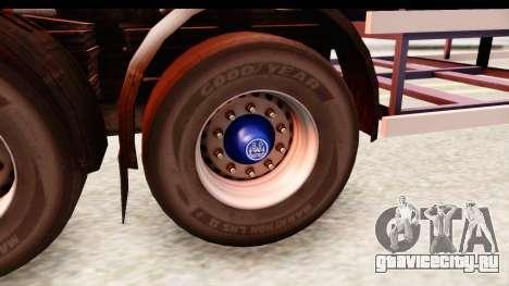 Trailer ETS2 v2 Nr. 1 для GTA San Andreas вид сзади