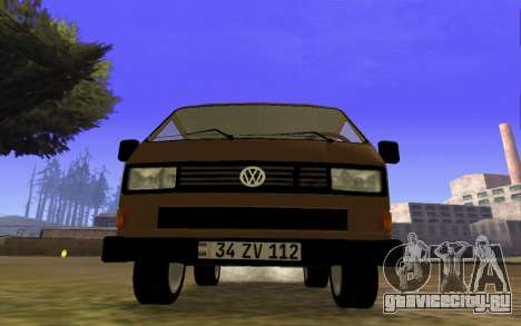 Volkswagen Transporter T-3 Armenian для GTA San Andreas вид слева
