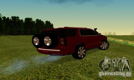 GMG Yukon 2015 для GTA San Andreas вид сзади слева
