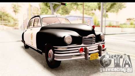 Packard Standart Eight 1948 Touring Sedan LAPD для GTA San Andreas вид справа