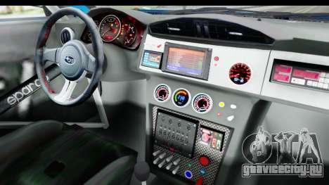 Subaru BRZ Rally для GTA San Andreas вид изнутри