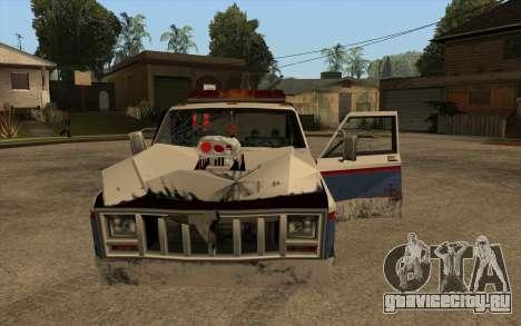 Новый эвакуатор для GTA San Andreas вид изнутри