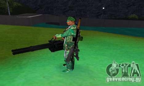 M134 MINIGUN BLACK для GTA San Andreas третий скриншот