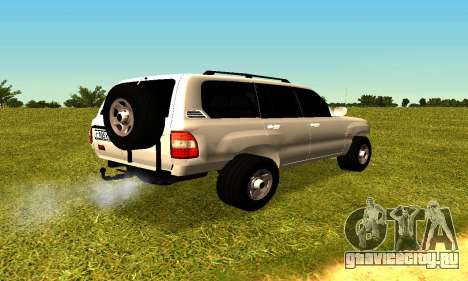 Toyota Land Cruiser 105V для GTA San Andreas вид сзади слева