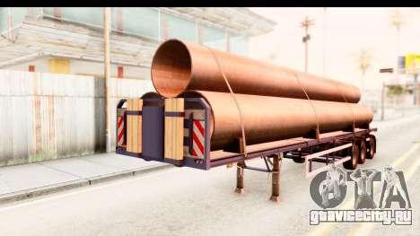 Trailer ETS2 v2 Nr. 1 для GTA San Andreas вид сзади слева