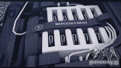 Mercedes-Benz W140 для GTA San Andreas вид изнутри