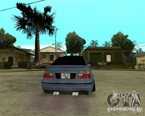 BMW M3 Armenian для GTA San Andreas вид изнутри