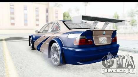 NFS Carbon - BMW M3 GTR для GTA San Andreas вид справа
