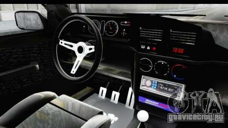 Peugeot 309 GTi для GTA San Andreas вид изнутри