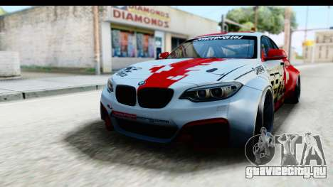 BMW M235i HGK для GTA San Andreas вид сзади слева
