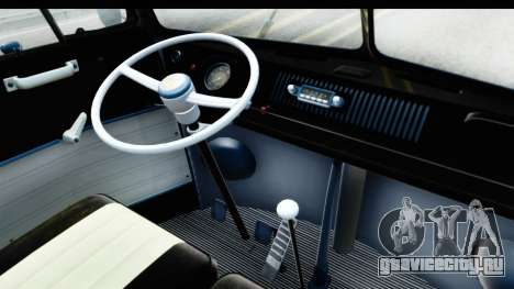 Volkswagen Transporter T1 Deluxe Bus для GTA San Andreas вид сзади