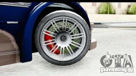 NFS Carbon - BMW M3 GTR для GTA San Andreas вид сзади