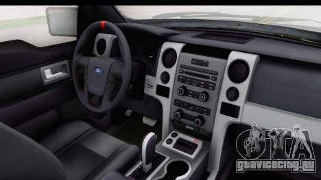 Ford F-150 Stock для GTA San Andreas вид изнутри
