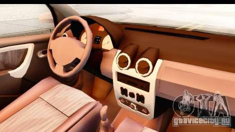 Dacia Logan Facelift Ambulanta v2 для GTA San Andreas вид изнутри