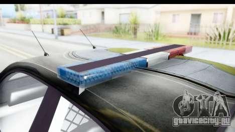 Vapid ULTOR Police Cruiser для GTA San Andreas вид изнутри