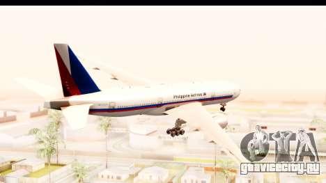 Boeing 777-200LR Philippine Airline Retro Livery для GTA San Andreas вид справа