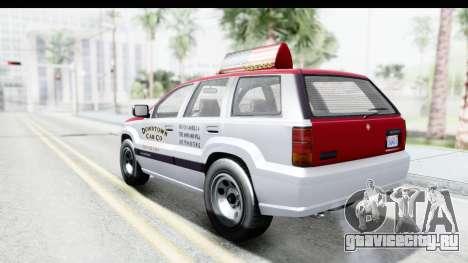 GTA 5 Canis Seminole Downtown Cab Co. Taxi для GTA San Andreas вид слева