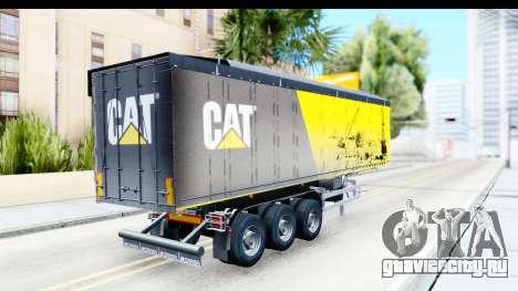 Trailer Caterpillar для GTA San Andreas вид слева