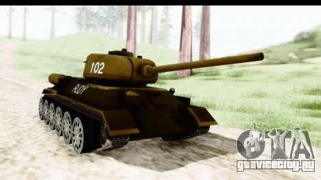T-34-85 Rudy 102 для GTA San Andreas вид справа