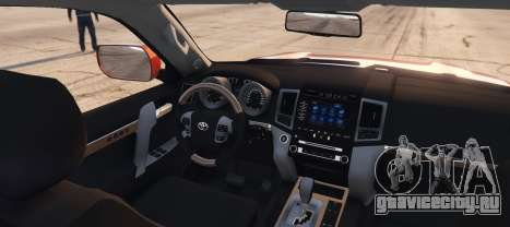 Toyota Land Cruiser 2013 для GTA 5 вид сзади слева