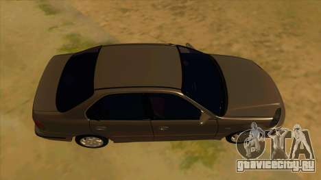 Honda Civic Sedan Stock для GTA San Andreas вид изнутри