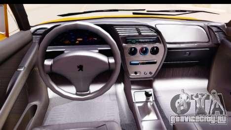 Peugeot 306 GTI для GTA San Andreas вид изнутри