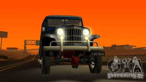 Jeep Station Wagon 1959 для GTA San Andreas вид сбоку