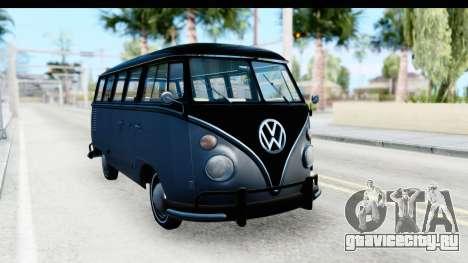 Volkswagen Transporter T1 Deluxe Bus для GTA San Andreas вид справа