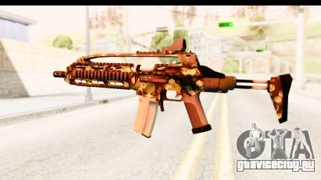 SCAR-LK Hex Camo Green для GTA San Andreas второй скриншот
