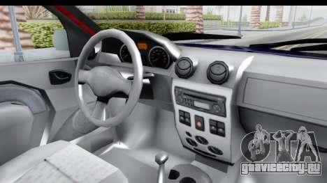 Dacia Logan MCV для GTA San Andreas вид изнутри