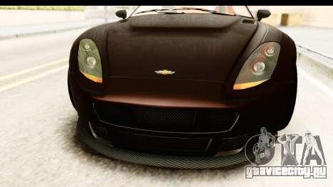 GTA 5 Dewbauchee Rapid GT SA Style для GTA San Andreas вид изнутри