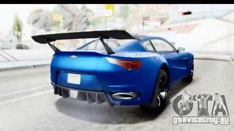 GTA 5 Dewbauchee Seven 70 для GTA San Andreas вид слева