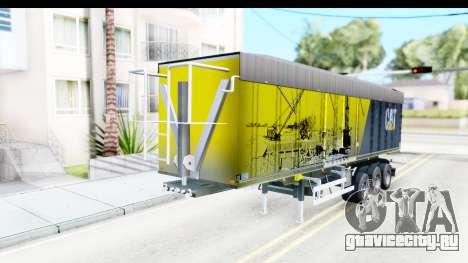 Trailer Caterpillar для GTA San Andreas вид справа