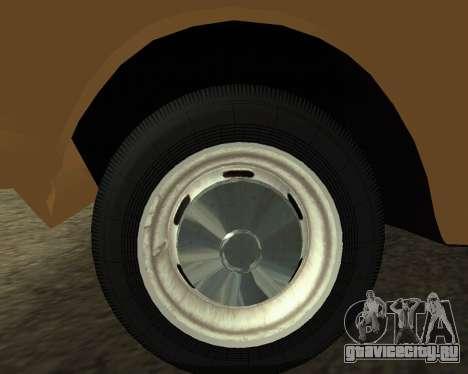 Москвич 2715 Armenian для GTA San Andreas вид сзади