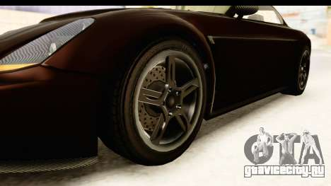 GTA 5 Dewbauchee Rapid GT SA Style для GTA San Andreas вид сзади