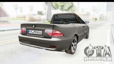Ikco Samand Pickup v1 для GTA San Andreas вид сзади слева