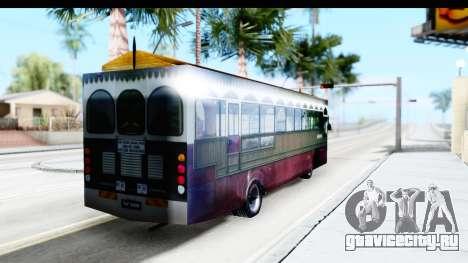 Cas Ligas Terengganu City Bus Updated для GTA San Andreas вид сзади слева