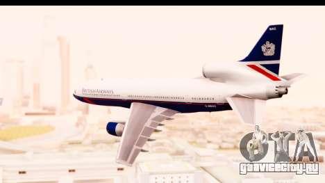 Lockheed L-1011-100 TriStar British Airways для GTA San Andreas вид слева