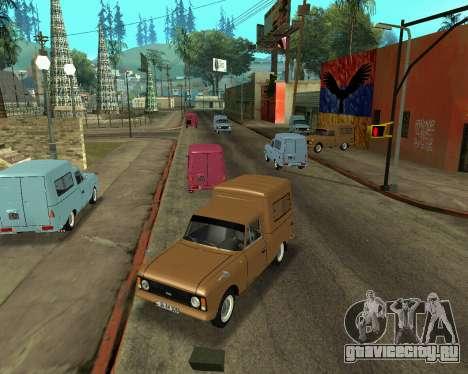 Москвич 2715 Armenian для GTA San Andreas вид изнутри