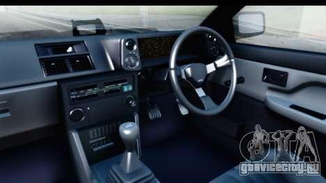 NFS 2015 Toyota AE86 для GTA San Andreas вид изнутри