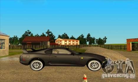 Toyota Supra Lambo для GTA San Andreas вид слева