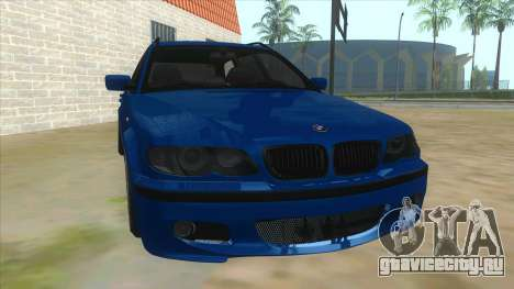 BMW E46 Touring Facelift для GTA San Andreas вид сзади