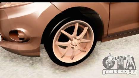 Ford Fiesta для GTA San Andreas вид сзади