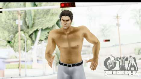 Yakuza 5 Kazuma Kiryu Topless Tatoo для GTA San Andreas