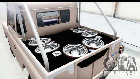 Land Rover Pickup Series3 для GTA San Andreas вид сзади